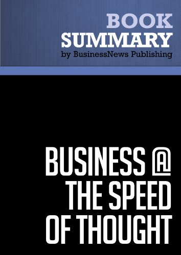 business at the speed of thought book summary